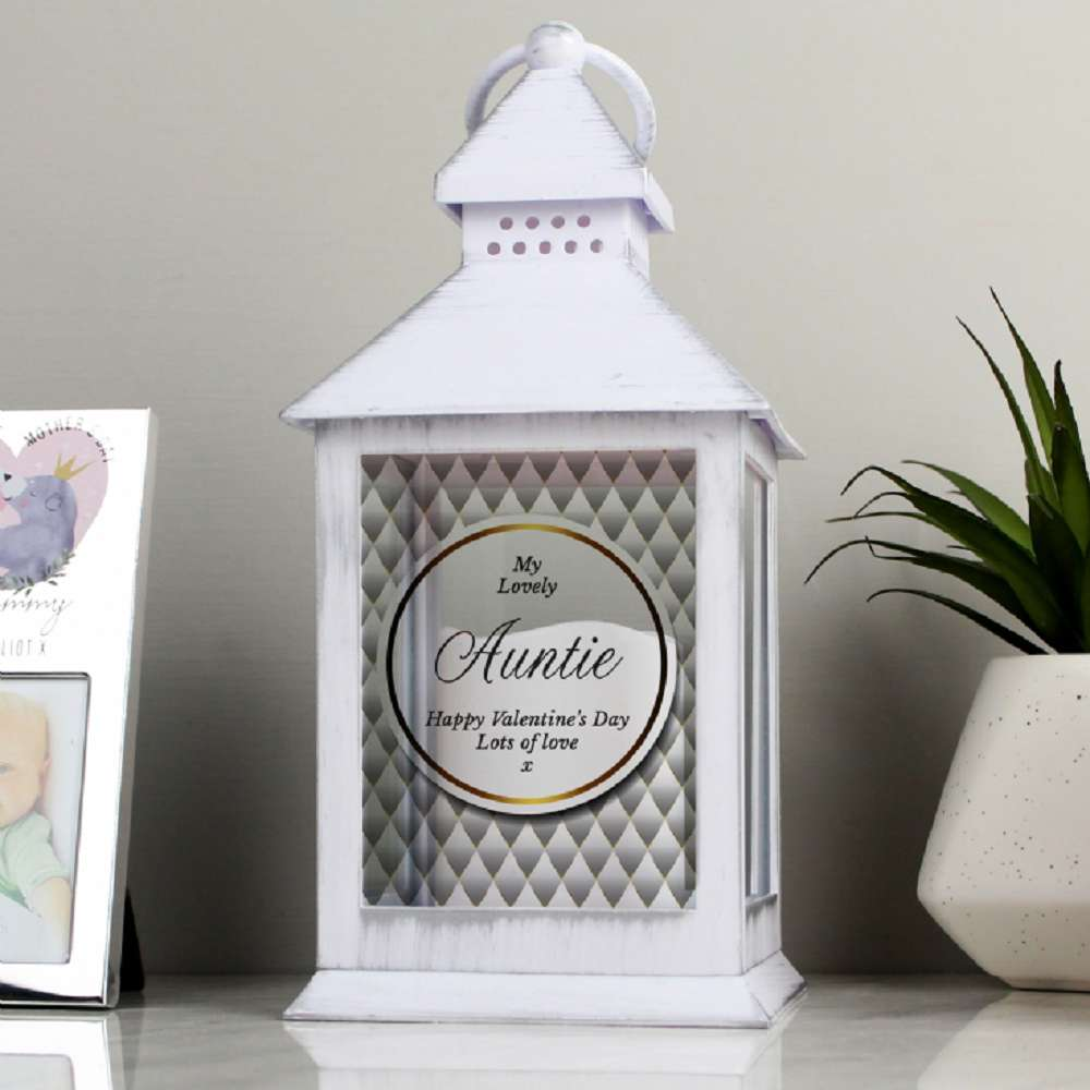 Personalised Gorgeous White Lantern