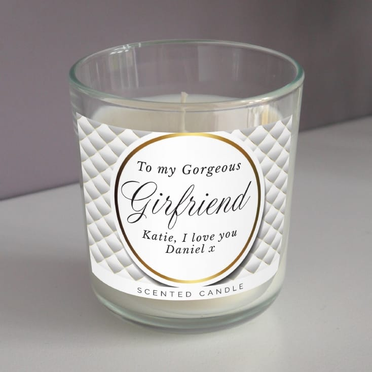 Personalised Gorgeous Scented Candle