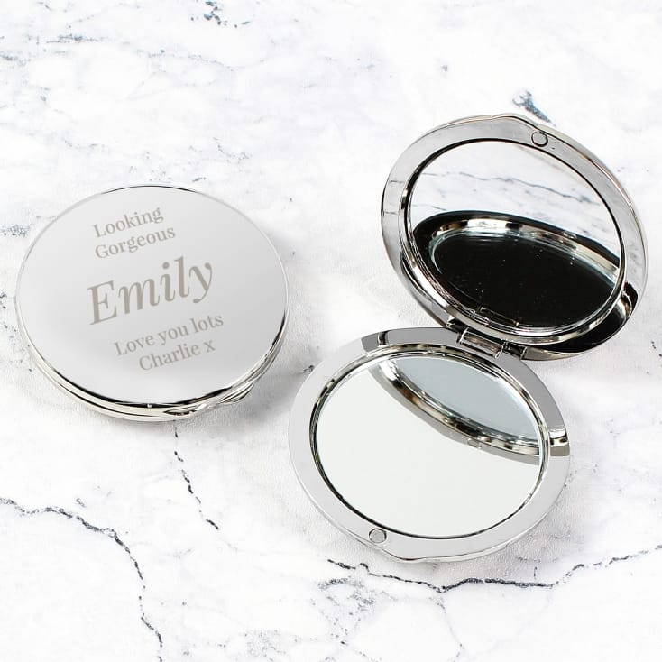 Engraved Big Role Personalised Compact Mirror