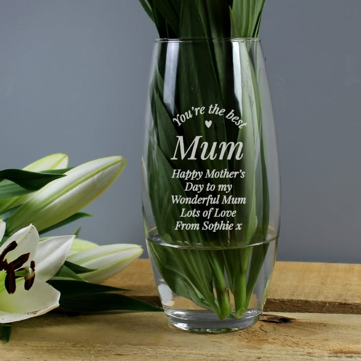 Personalised You Are The Best Bullet Vase