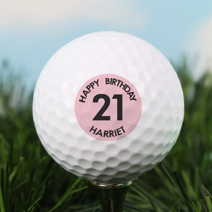 Personalised Pink Age Golf Ball