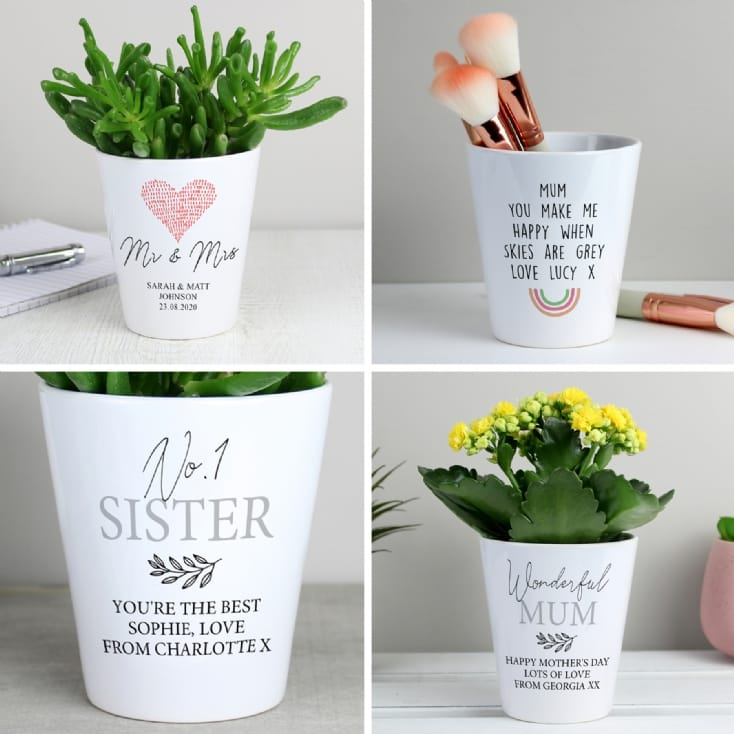 Personalised Modern Ceramic Plant Pots