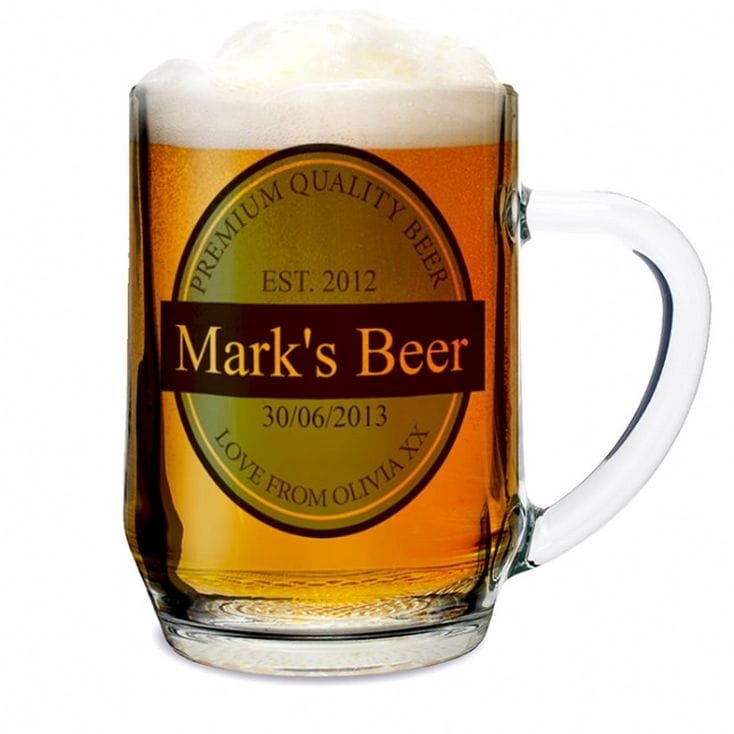 Personalised Beer Glass Tankard