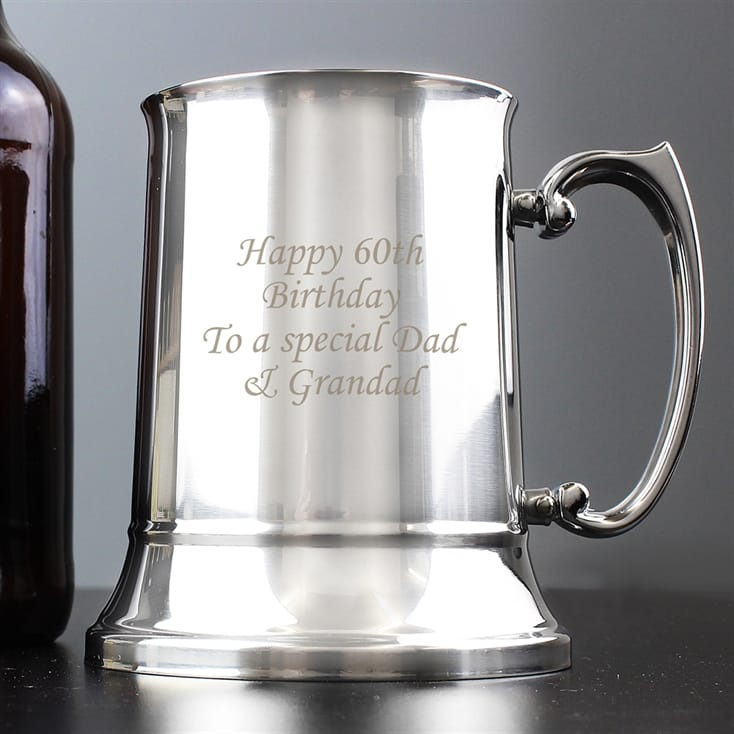 Stainless Steel Personalised Tankard