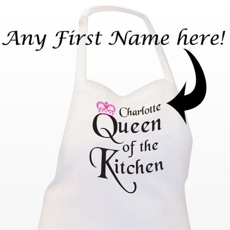 Queen of the Kitchen' Personalised Apron