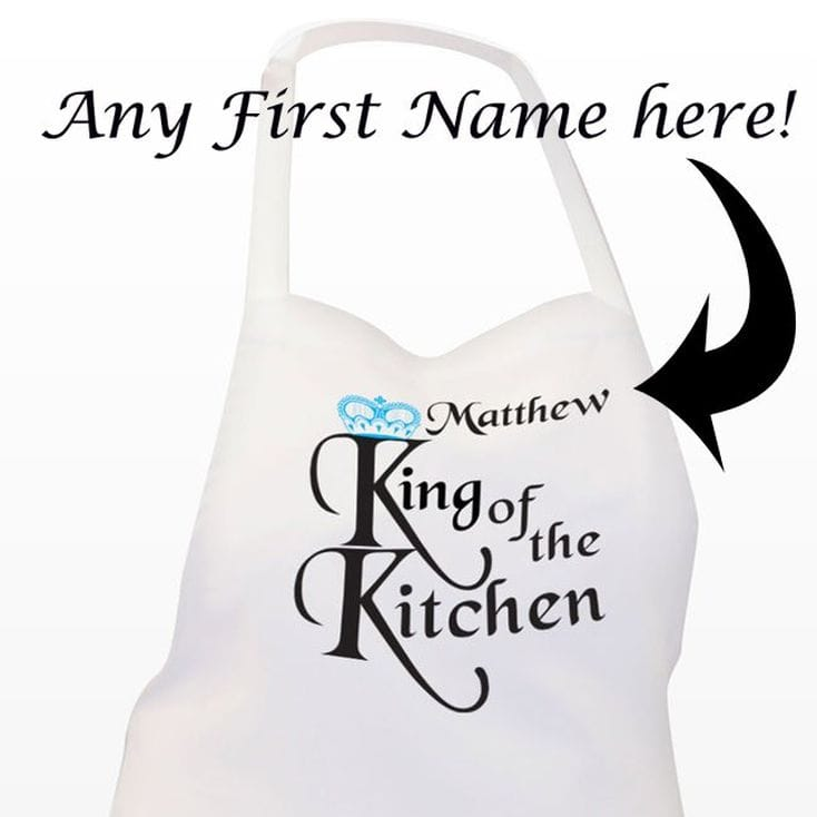 King of the Kitchen' Personalised Apron