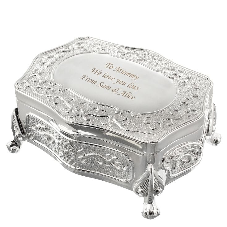 Personalised Antique Finish Trinket Box