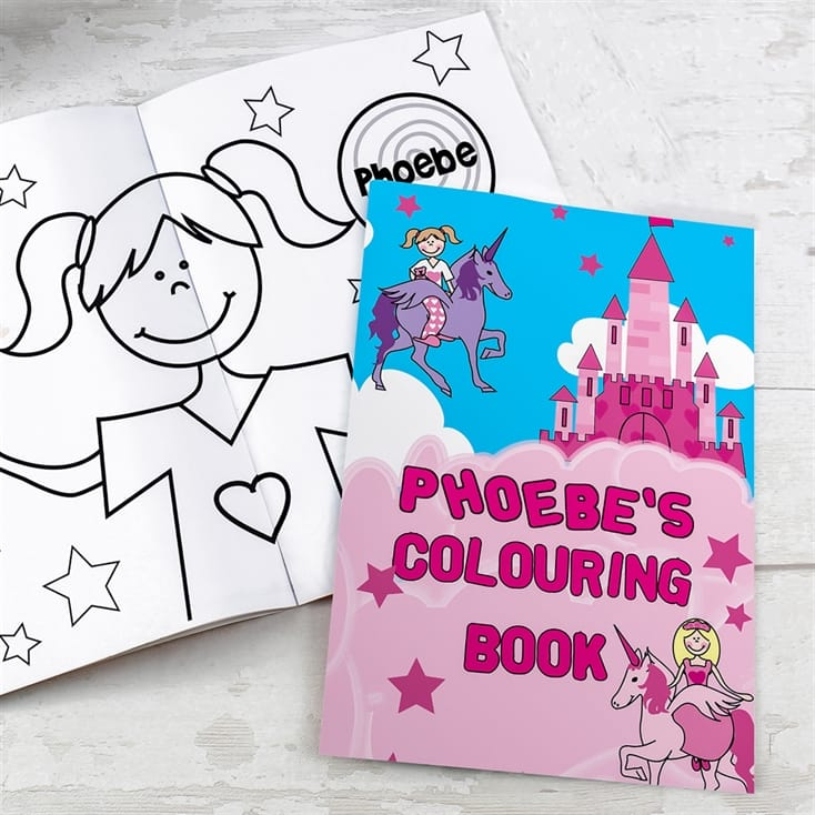 'Princess' Personalised Colouring Book