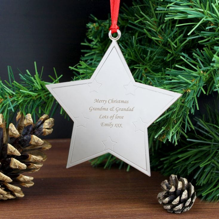 Personalised Christmas Decorations  Star