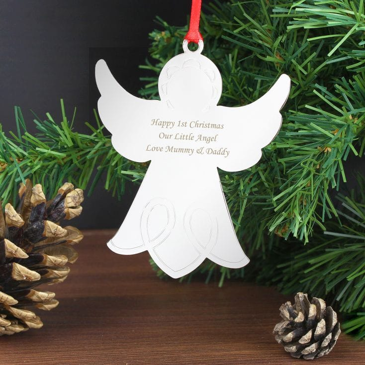 Personalised Christmas Decorations  Angel