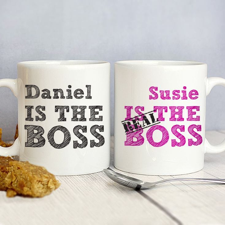 The Real Boss Personalised Mug Gift Set Find Me A Gift
