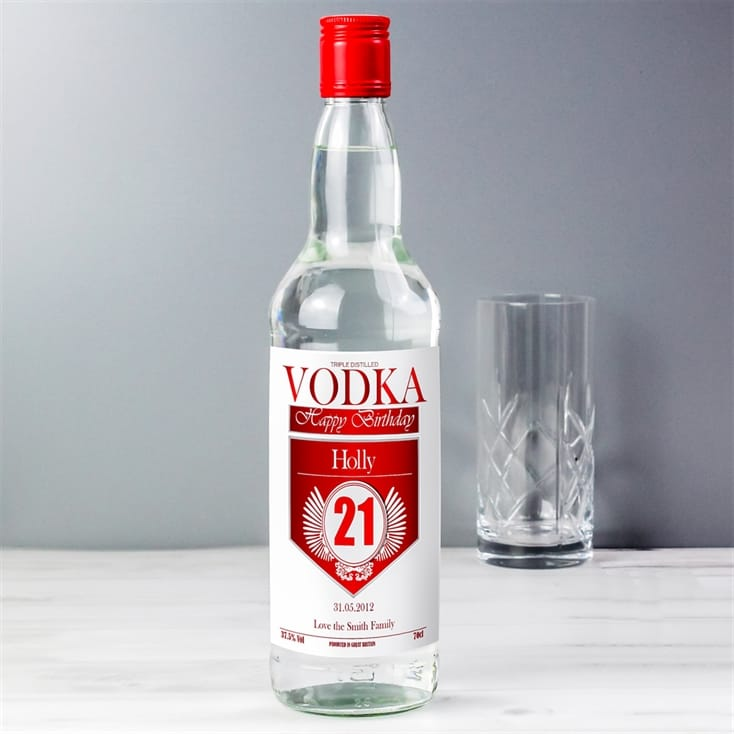 Personalised Vodka - Special Age Red and Silver Label