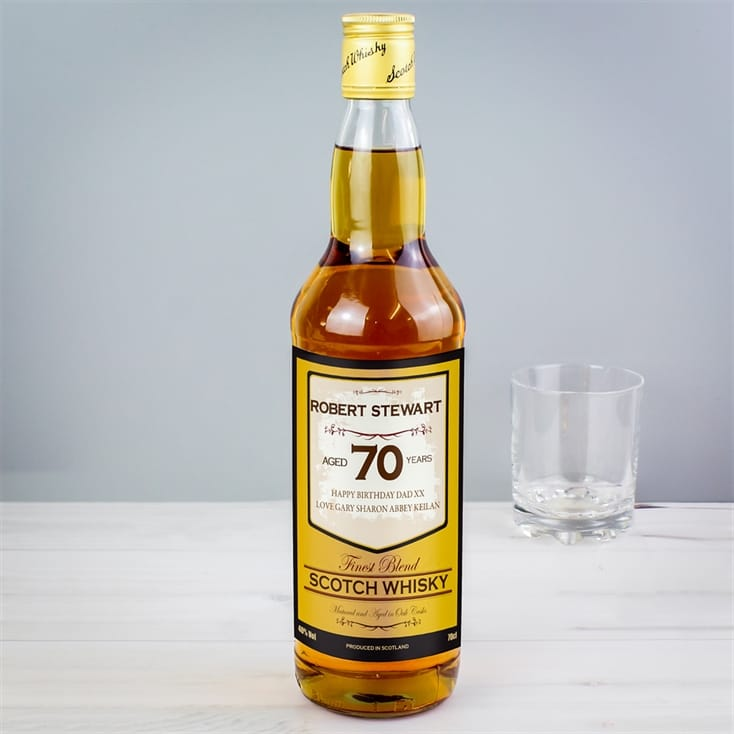 Add A Birthday Age Personalised Whisky