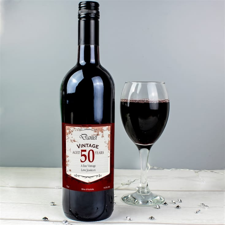 40th Birthday Personalised Red Wine