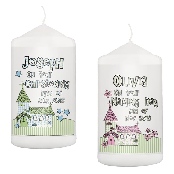 Whimsical Church Personalised Candle