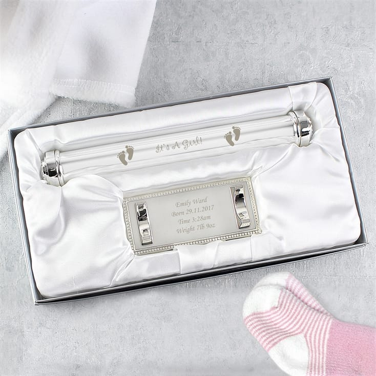 Personalised Birth Certificate Holder With Stand