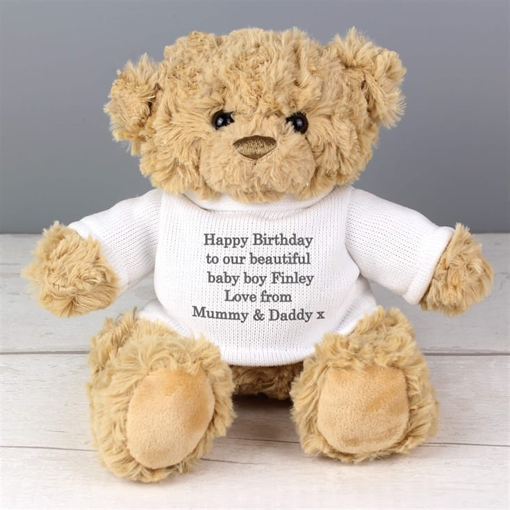 Personalised Teddy Bear - Cream Jumper