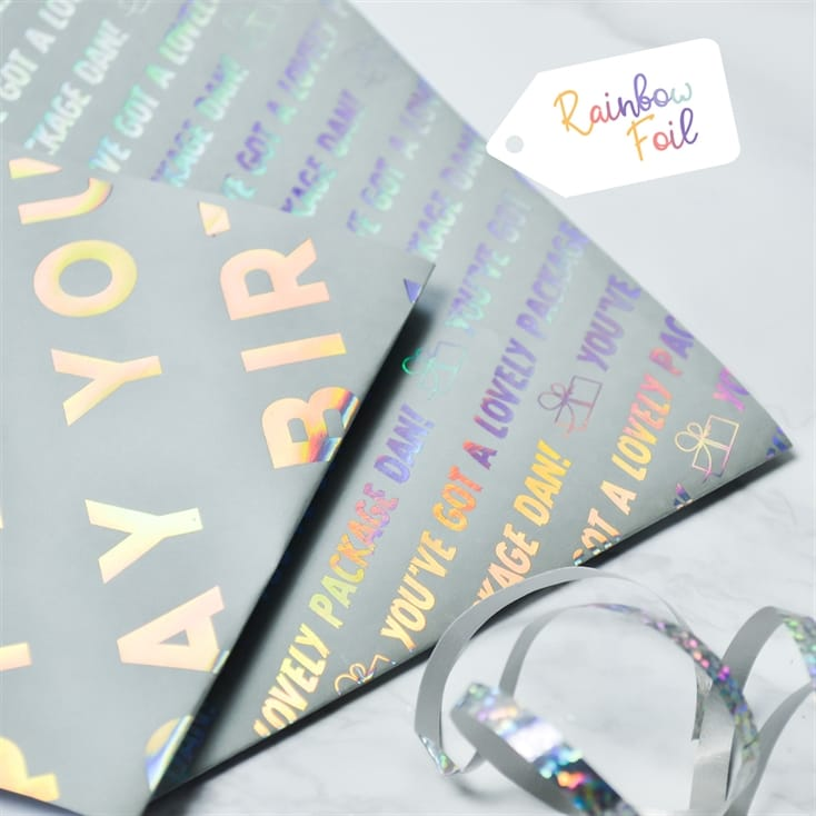 Choose your Colours!!! Personalised Graduation Wrapping Paper Any name