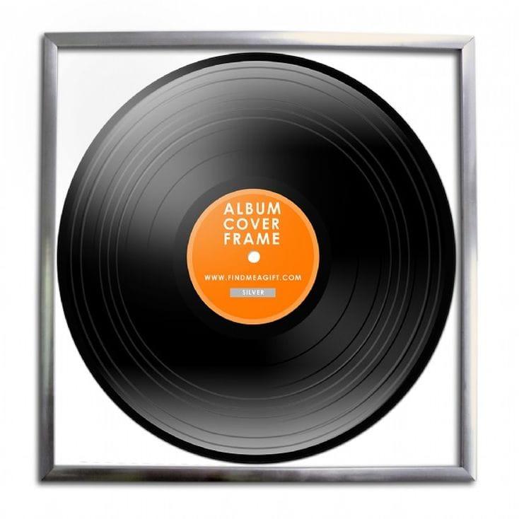 Record Album Frame  Silver