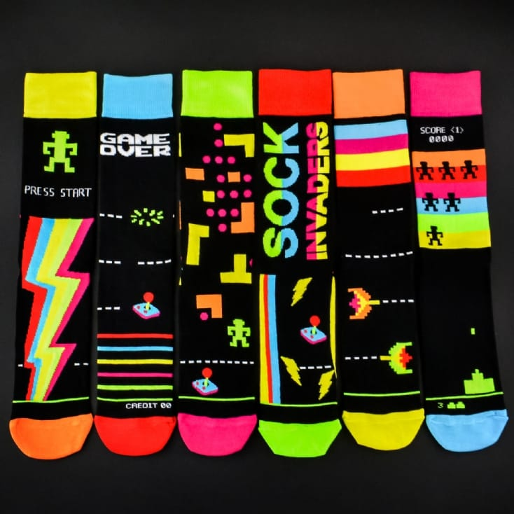 Sock Invaders Pack of Six