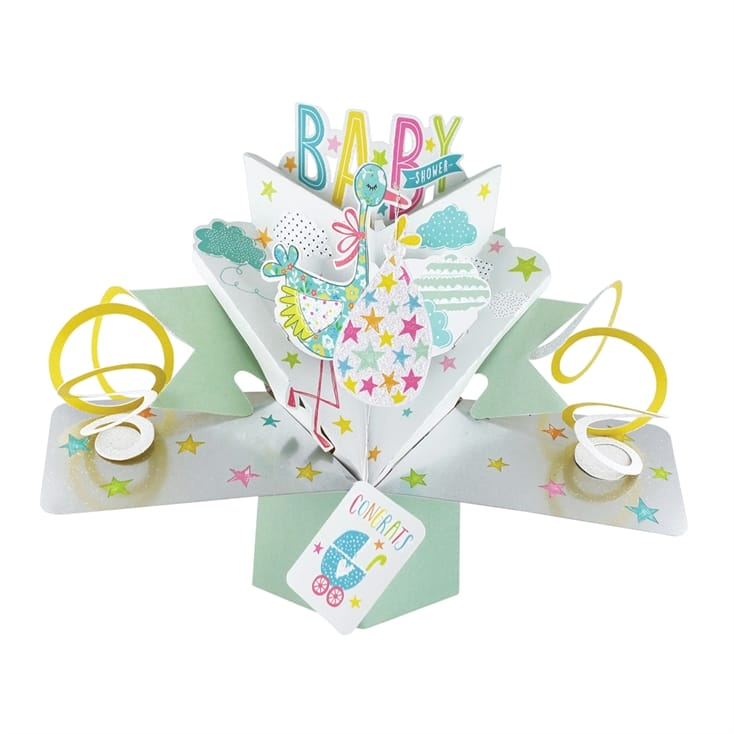 Pop Up Baby Shower Card
