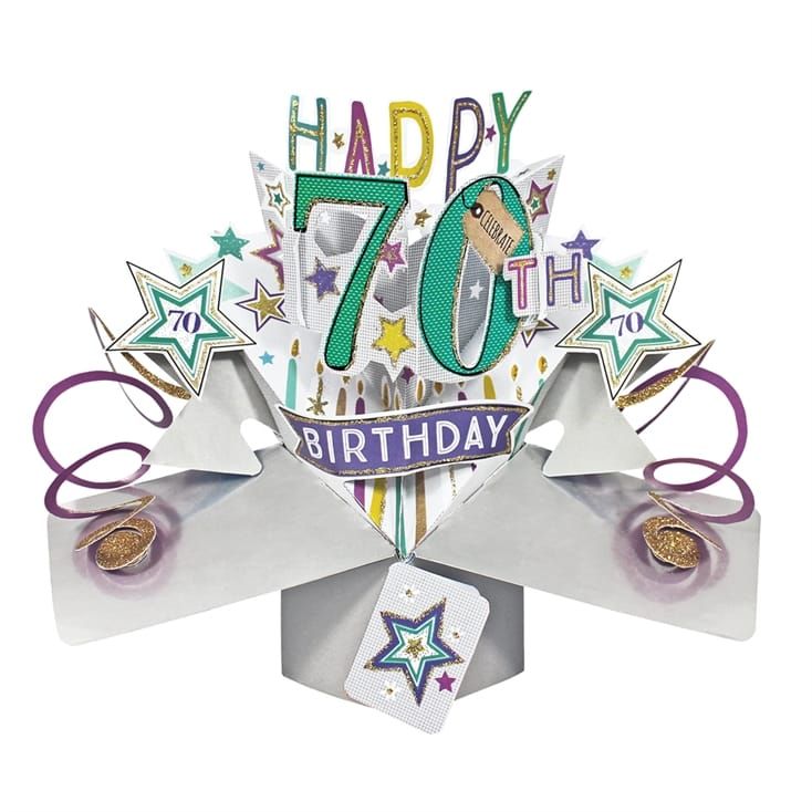 Pop Up 70th Birthday Card