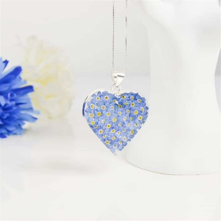 Forget Me Not Heart Pendant
