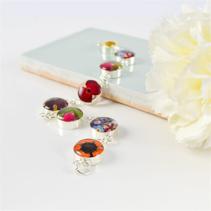 Real Flower Bracelet With Mixed Blooms