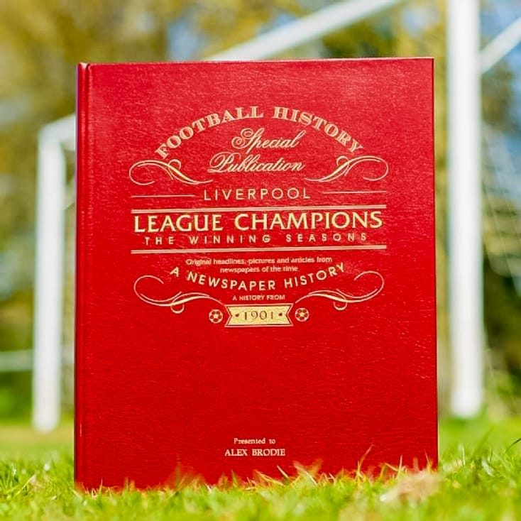 Personalised Liverpool Champions Newspaper Book - The Winning Seasons 1901 to 2020