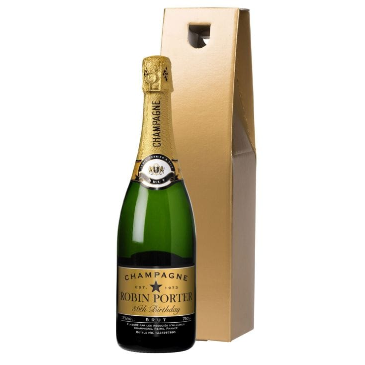 Personalised Champagne Bottle With Gift Box