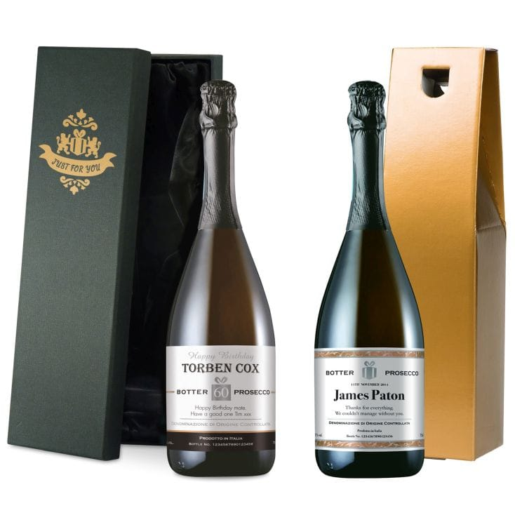 Personalised Prosecco Label and Gift Box