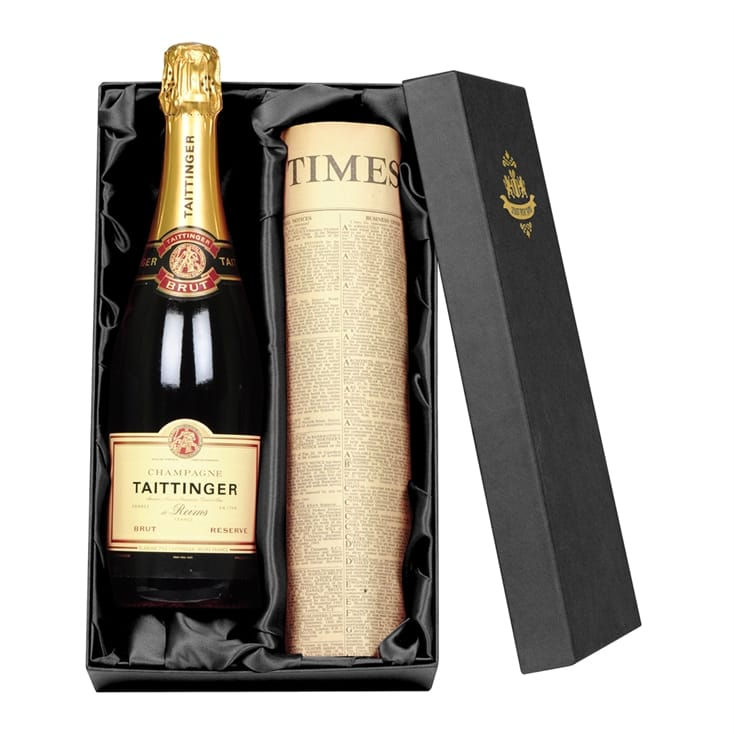 Champagne and Newspaper Giftbox