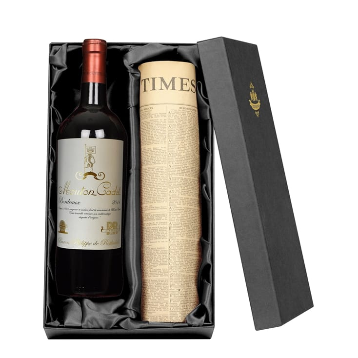 Bordeaux Red Wine and Newspaper Giftpack