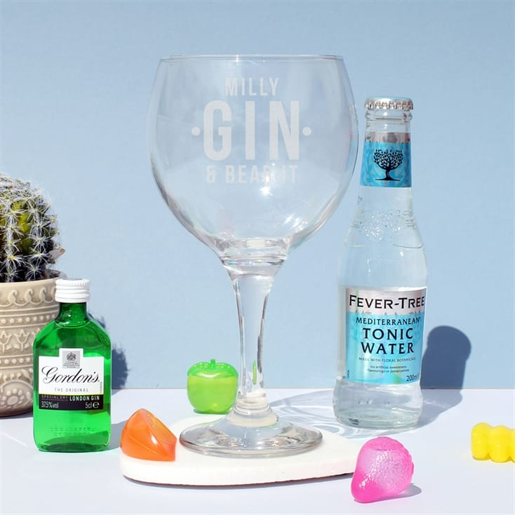 Personalised Gin and Bear It Gin Gift Set