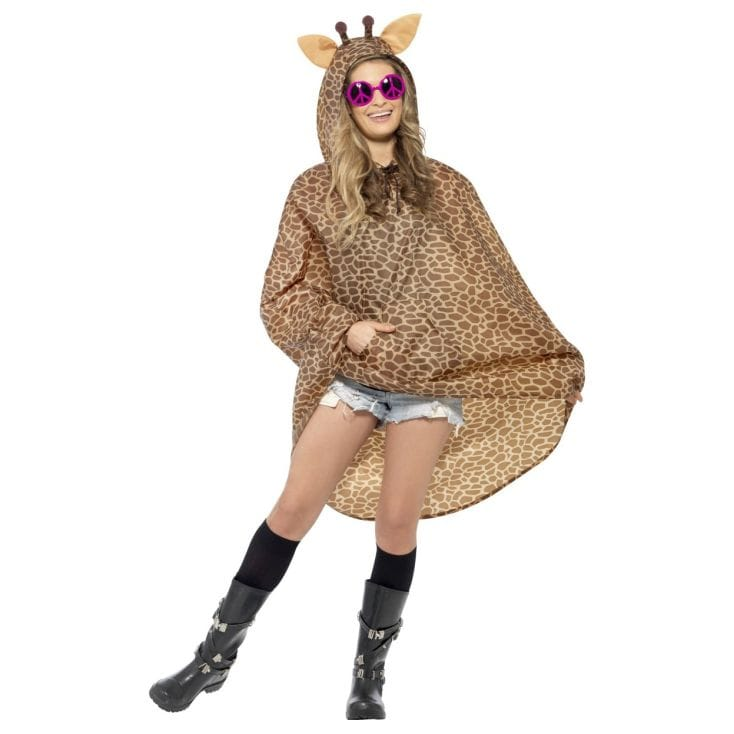 Giraffe Fancy Dress Poncho Find Me A Gift