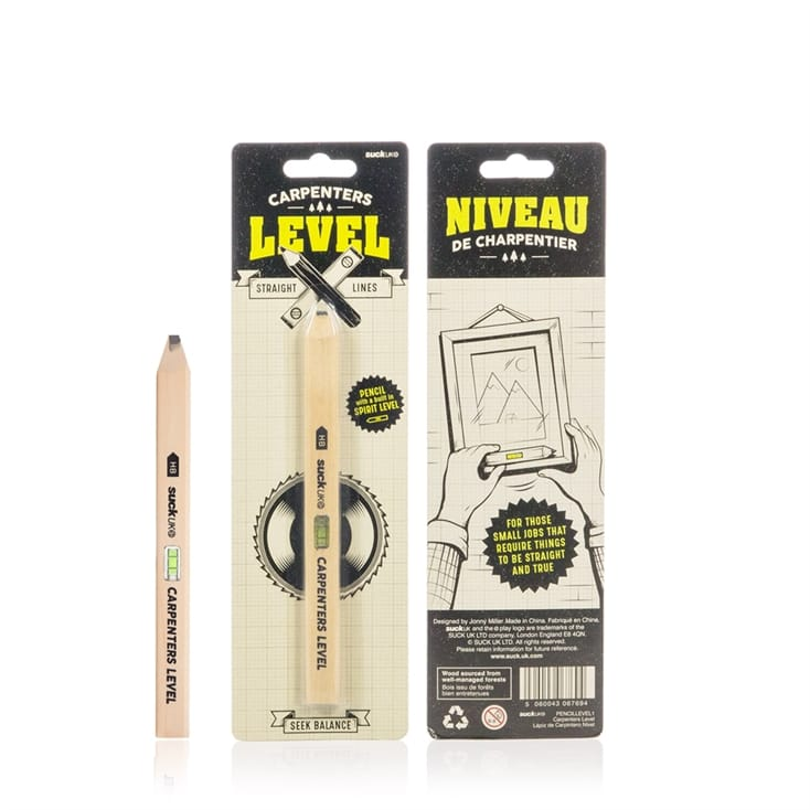 Carpenters Spirit Level Pencil