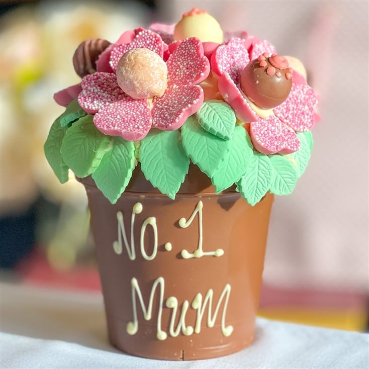 Personalised Chocolate Flower Pot