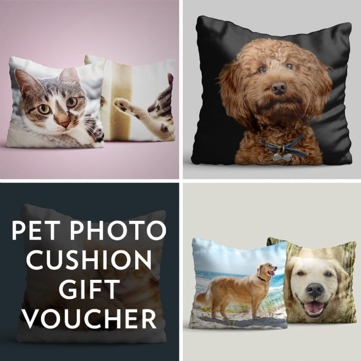 Personalised Pet Photo Cushion Gift Voucher