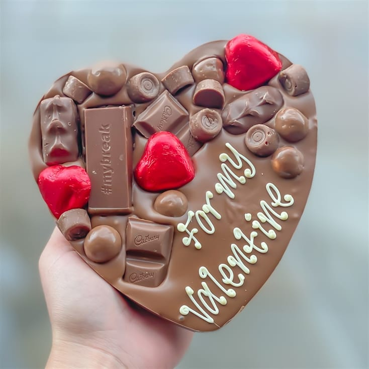 Personalised Heart Letterbox Chocolate Hug