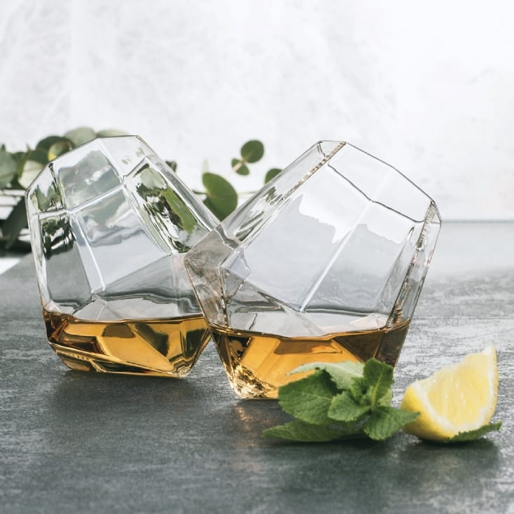 Diamond Shaped Whisky Glasses