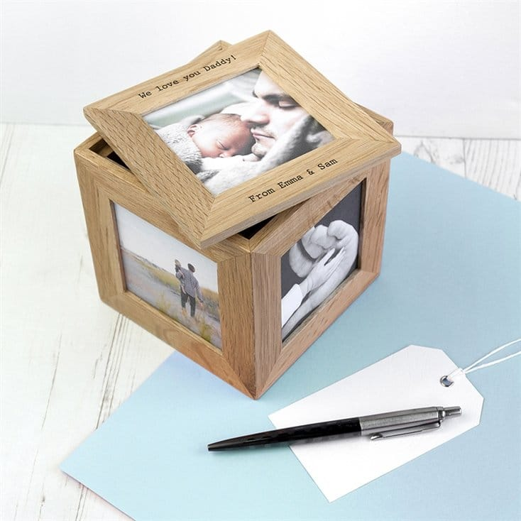 Personalised Photo Cube Keepsake Box