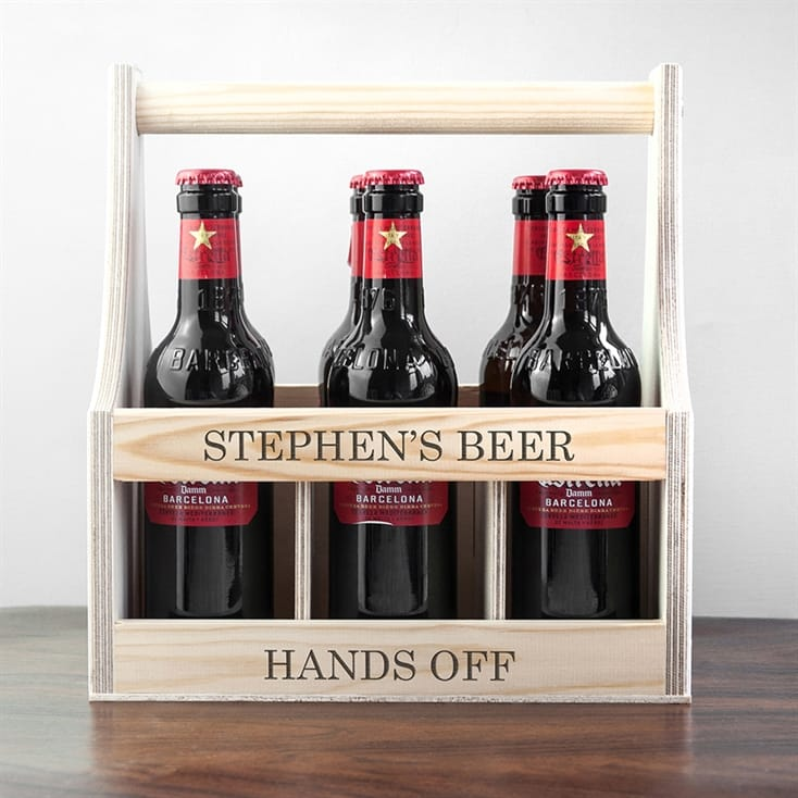 Personalised Wooden Beer Trug