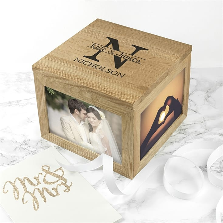 Personalised Monogram Couples Keepsake Box