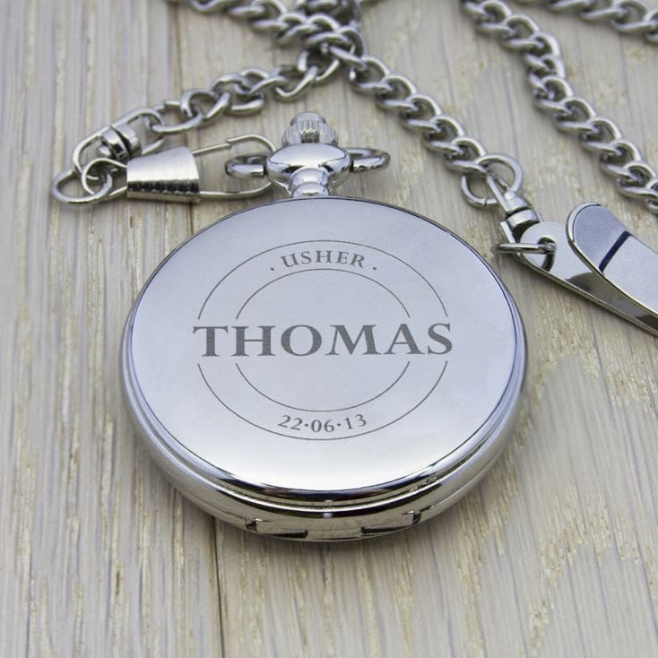 Personalised Usher Pocket Watch