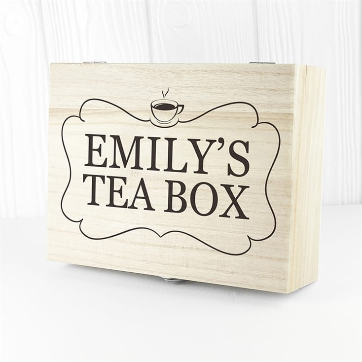 Personalised Tea Box with Tea