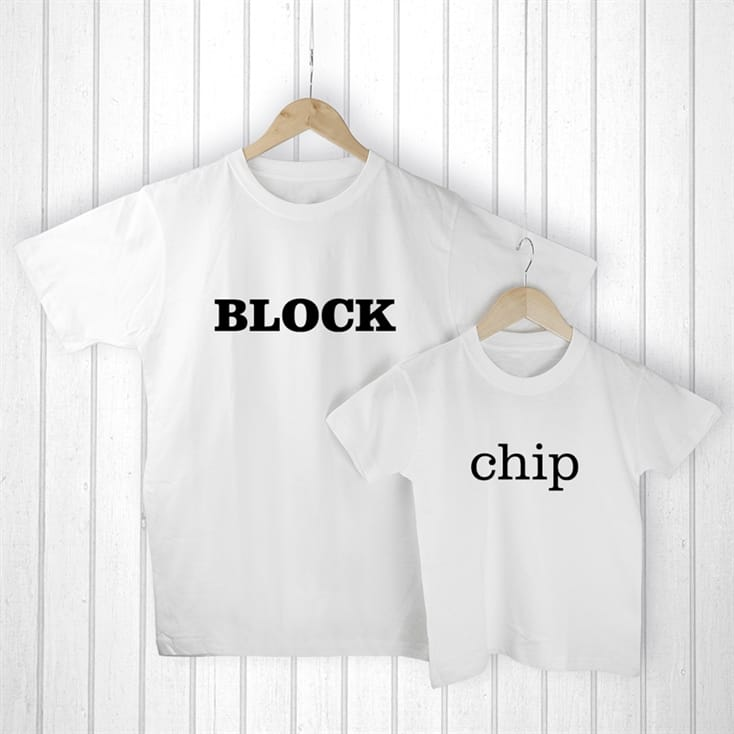 Daddy and Me Chip off the Old Block T-Shirts