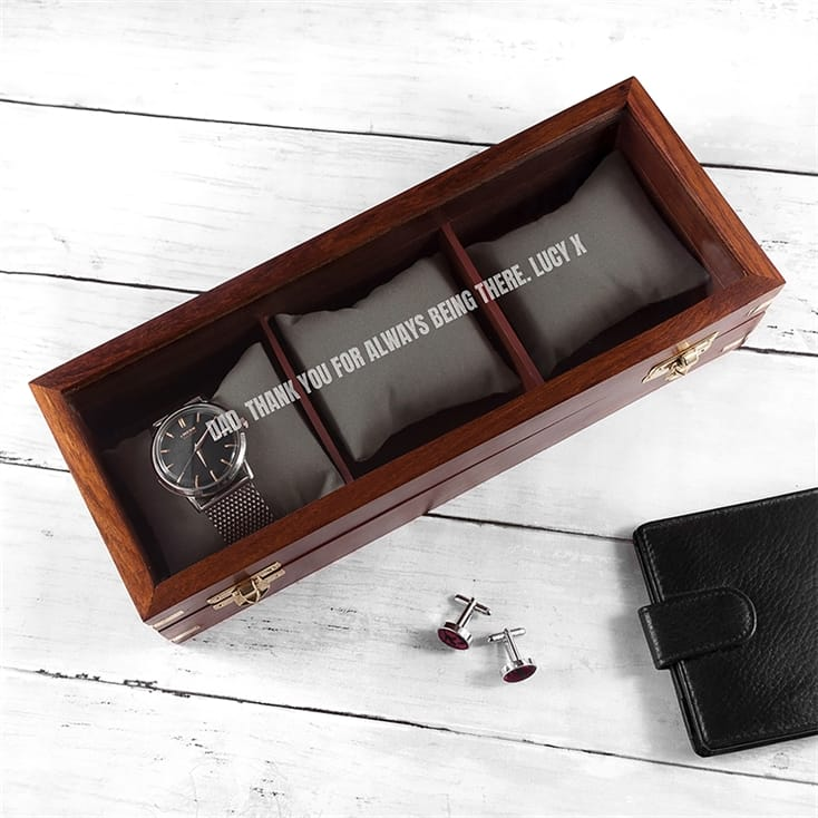 Wooden Personalised Watch Box