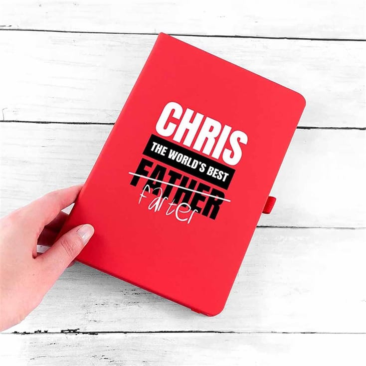 World's Best Farter Personalised A5 Notebook