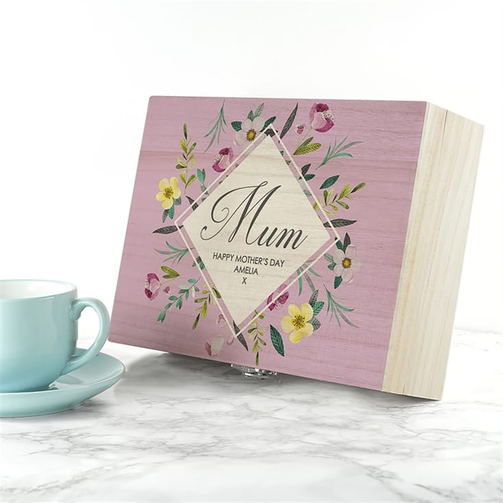 Botanical Personalised Tea Box