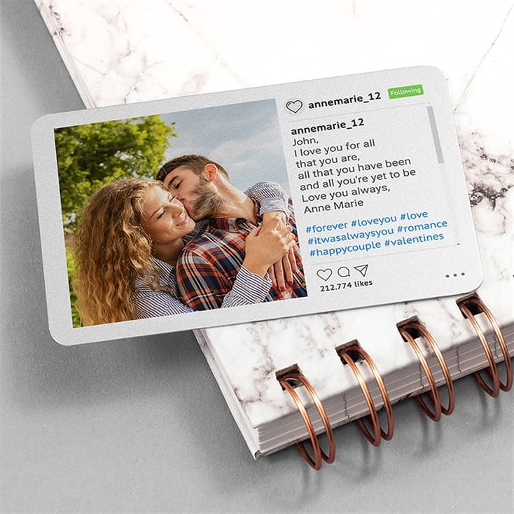 Personalised Walletgram Metal Keepsake
